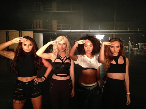 Little Mix fond d'écran possibly with a leotard, hot pants, and pantalon chaud called ''Move'' musique Video - Stills