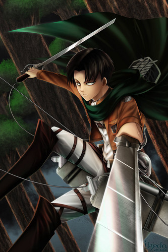 Shingeki no Kyojin (Attack on Titan) Hintergrund titled ☤SnK☤(Levi)