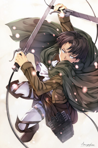 Shingeki no Kyojin (Attack on Titan) Hintergrund entitled ☤SnK☤(Levi)