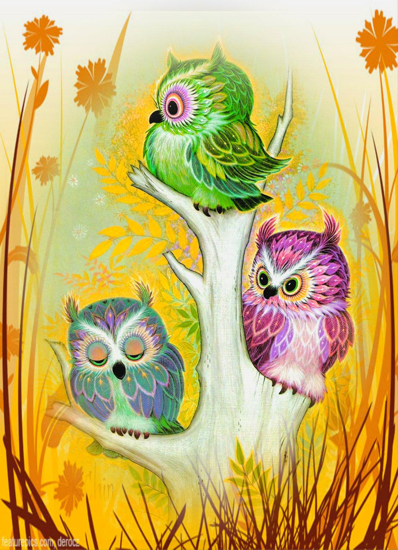 3 birds on a stump