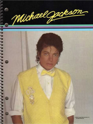 A Vintage Michael Jackson Writing Notebook