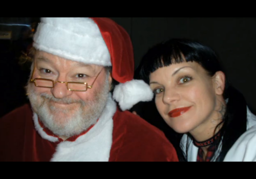 Abby Sciuto wallpaper titled Abby and Santa