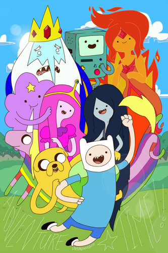 Adventure Time With Finn and Jake wallpaper probably containing anime entitled Adventure time ^-^
