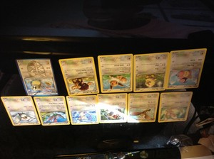 All Pokémon types that I have in cards