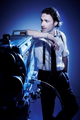 Andrew lincoln Hintergrund probably with an automobile and a ski rack called Andrew - BAFTA Photoshoot