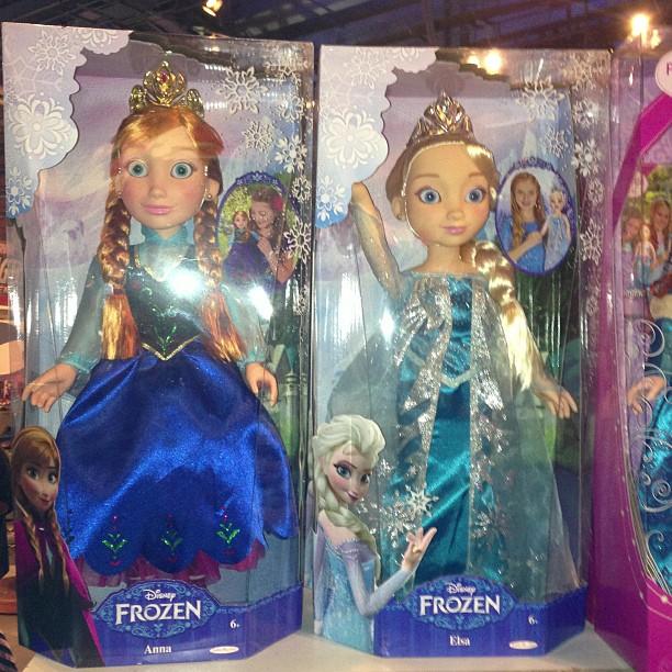 Anna and Elsa disney princess & me muñecas