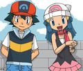Ash and Dawn - pokemon photo