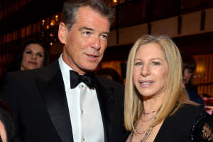 Barbra Streisan And Pierce Bronson