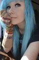Blue scene hair - emo-and-scene-hairstyles photo