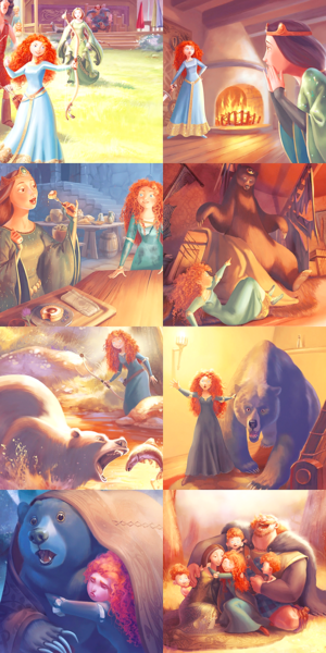 brave - Merida and Elinor