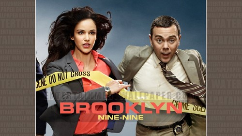 Brooklyn Nine-Nine karatasi la kupamba ukuta probably with a mitaani, mtaa and a business suit titled Brooklyn Nine-Nine
