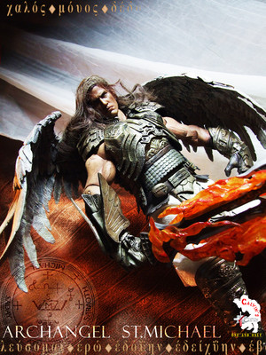 Calvin;s Custom One Sixth Archangel Michael figure