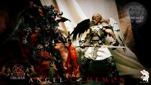 Calvin's Custom One sixth angel and Demon figure