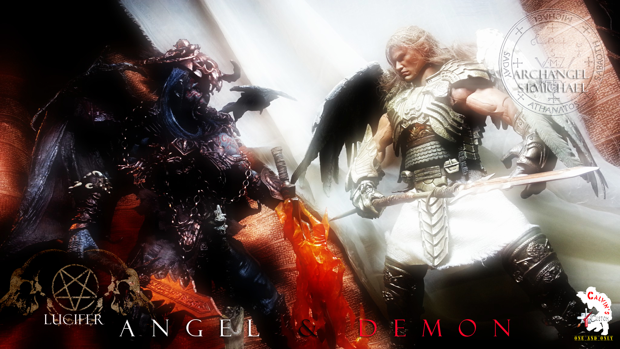 Angel And Demon Love Wallpaper Pictures to Pin on ...