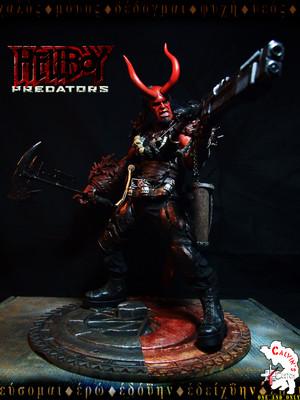 Calvin's Custom Predators X Hellboy