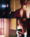 "Caroline: ""Damon Towel Knock""  - damon-and-caroline fan art"