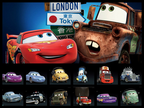 Disney Pixar Cars 2 wallpaper probably with a toaster entitled Cars Collage