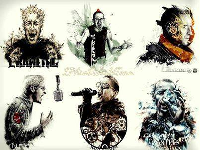 linkin park wallpaper with animê titled Chester