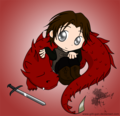 Chibi Murtagh and Thorn :))))) - murtagh fan art