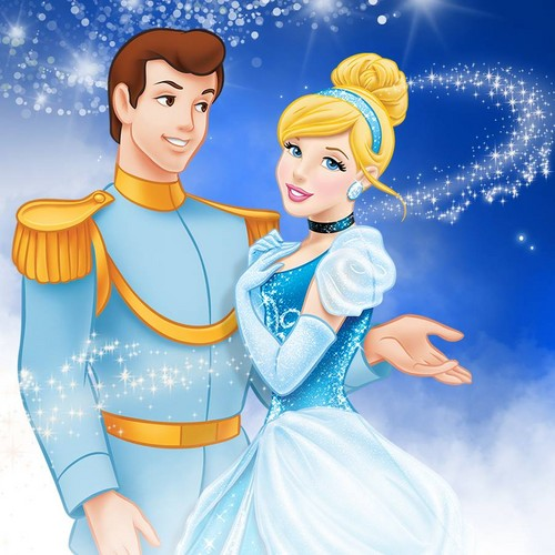 Princess সিন্ড্রেলা দেওয়ালপত্র titled সিন্ড্রেলা and Prince Charming