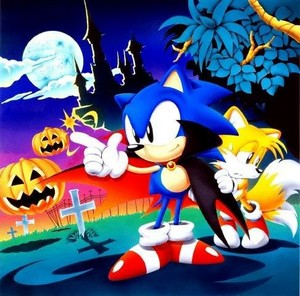 Classic halloween Sonic