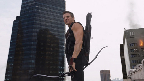 Random wallpaper probably containing a street, a hoover, and a vacuum entitled Clint Barton / Hawkeye Scene