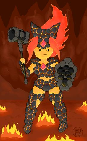 Coal armor flame princess