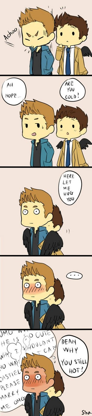 Dean and Castiel ღ