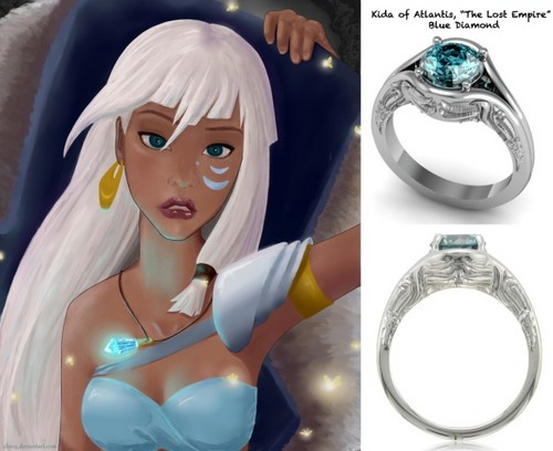 rg wedding inspired anime weddg rings