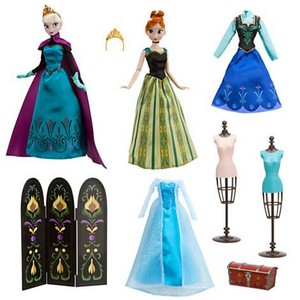 "Disney Frozen Anna and Elsa Deluxe 11"" Fashion Doll Set"