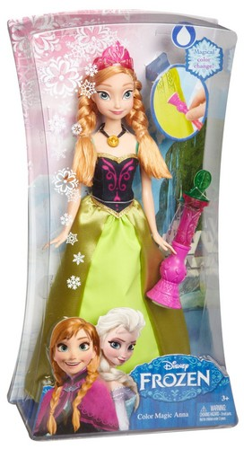 Elsa and Anna wallpaper entitled Disney Frozen Color Change Anna Doll