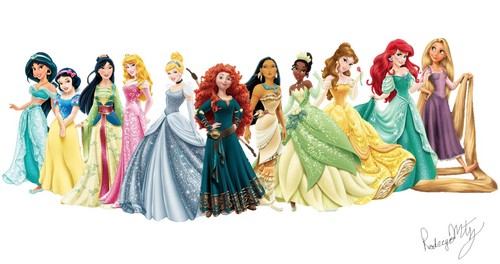 Disney Princess wolpeyper called Disney Princess re-desgin dresses