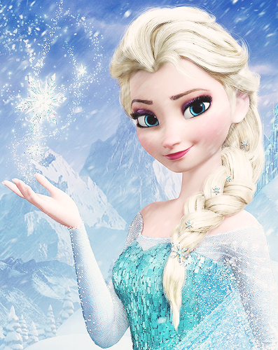 Frozen kertas dinding entitled Elsa