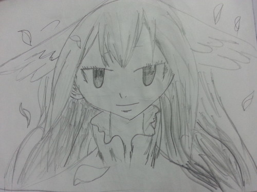 Anime Drawing Hintergrund possibly containing a red cabbage titled Fairy Tail Drawings
