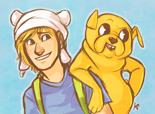 Adventure Time With Finn and Jake wallpaper containing anime titled Finn and Jake