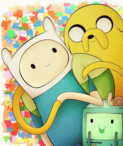 Adventure Time With Finn and Jake wallpaper titled Finn and Jake