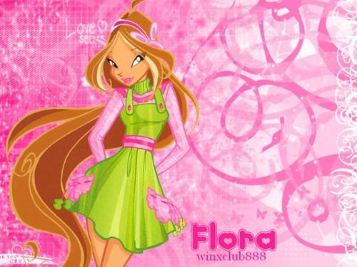 Winx Club hình nền entitled Flora <3