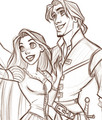 Flynn and Rapunzle Close Up - flynn-and-rapunzel photo