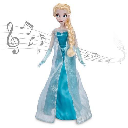 Elsa und Anna Hintergrund entitled Frozen Disney Store Singen Elsa Doll