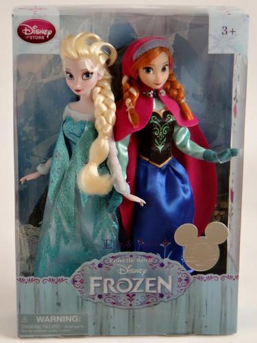 Elsa und Anna Hintergrund entitled Frozen Elsa and Anna 11'' Doll Set - Disney Store