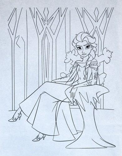 Elsa the Snow क्वीन वॉलपेपर called फ्रोज़न Official Illustration - Elsa