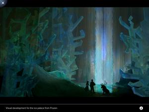 La Reine des Neiges art from Disney animate app