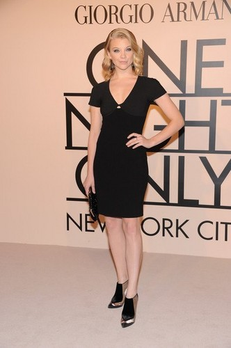 Natalie Dormer wallpaper with tights called Giorgio Armani - One Night Only NYC - SuperPier