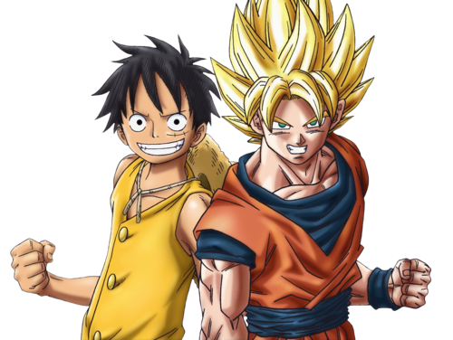 anime Debate achtergrond entitled Goku and Luffy