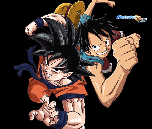 anime debat wallpaper possibly containing anime titled goku and Luffy