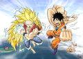 गोकु and Luffy