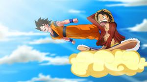 গোকু and Luffy