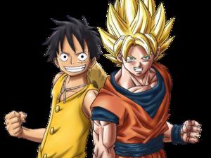 고쿠 and Luffy