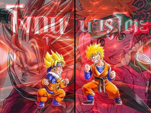 anime debat wallpaper entitled goku vs naruto