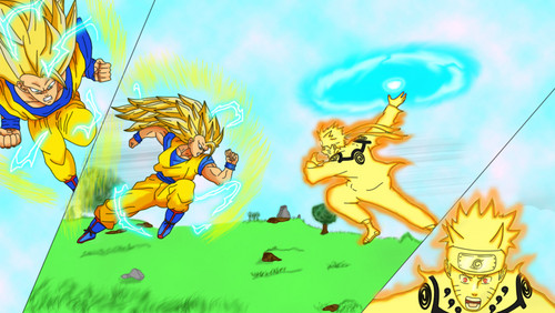 anime debat wallpaper containing anime entitled goku vs naruto